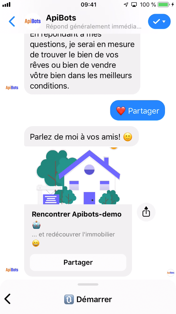 share button in chatbot